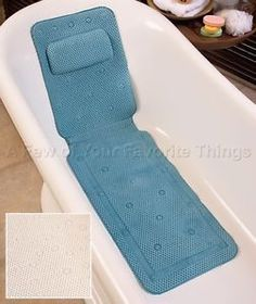 "IVORY 50"" SPA BATH TUB MAT WITH PILLOW CUSHION FOAM NONSLIP.... I would love this for my bubble baths"