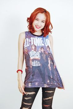 All Time Low Don't Panic Punk Rock Muscle Tee Shirt Tops Tank Women Girl Sz S,M,L on Etsy, £11.20