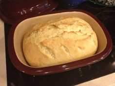 Check out the recipe! Who needs a bread maker when you have a deep covered baker :)