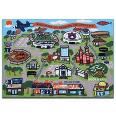 Auburn rug for kids room at Haley Bookstore $50