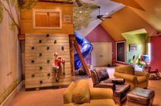 Kinder Spielraum holz klettern spielhaus sofa