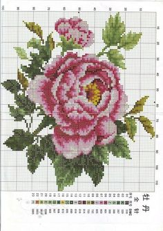 This Pin was discovered by Zeh Mini Cross Stitch, Cross Stitch Rose, Cross Stitch Flowers, Cross Stitch Charts, Cross Stitch Designs, Cross Stitch Patterns, Embroidery Patterns Free, Needlepoint Patterns, Beading Patterns