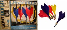 Lawn Darts -yes sharp objects thrown by children & no protective gear either - how did we survive  ;-)