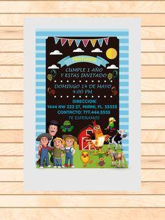 Etsy, Ideas, Birthday Invitations, Farm Party, Invitation Cards, Thoughts