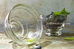 Vintage Glass Ice Cream Bowls $12.00 at stilllifestyle.etsy.com