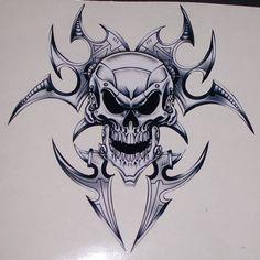"Lethal Threat Flaming Skulls Decal Sticker 6/"" x 18/"" Cars SUV Trucks Wall"