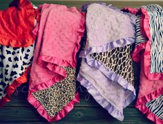 Animal Print Minky Blankets from $12.38