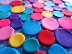 Rainbow Polka Dots Edible Fondant Birthday Cupcake Cake Toppers by TopCakeDecors on Gourmly