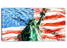 Lady Liberty on US Flag #PT2805  Shop online Lady Liberty on US Flag #PT2805