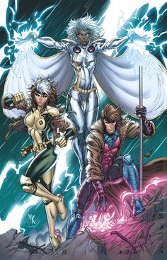 Storm, Rogue and Gambit