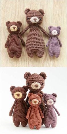 Amigurumi Crochet Mini Bear Pattern by Little Bear Crochets Crochet 101, Crochet Bear, Love Crochet, Crochet Gifts, Crochet Dolls, Easy Crochet, Crochet Stitches, Crochet Animals, Amigurumi Patterns