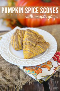 Pumpkin Scones with Maple Glaze from Our Best Bites.  Quick and Easy!