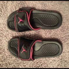 cb102e662ff Youth Jordan slides Size 7y Jordan slides. Rare pink color way . Good  condition .