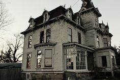 Ababdoned old victorian home in Burnside,Michigan haunted by the man that built it in 1876, John Bruce.