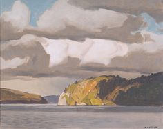 A.J. Casson, Storm Clouds, Oil on Board