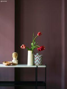 Efterårets vægfarver - nyheder fra Jotun - The Sweet Spot Bedroom Wall Colors, Bedroom Decor, Inspiration Wall, Interior Inspiration, Jotun Lady, Interior Paint, Interior Design, Color Lila, Dusty Purple
