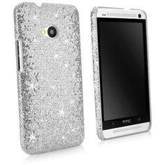 BoxWave Glamour & Glitz HTC One (M7 2013) Case - Slim Snap-On Glitter Case, Fun Colorful Sparkle Case for your HTC One (M7 2013)! - HTC One (M7 2013) Cases and Covers (Silver Sparkles)