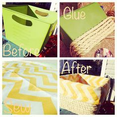 Adorable storage bins on the cheap!  I'm using cardboard boxes!