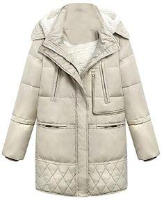 51a197be1730c 2016 White Duck Down Winter Jacket Women Parkas Loose Jacket Coat Female  Medium Long Down Parka Plus Size Overcoat 50