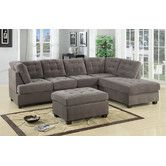 Found it at Wayfair - Aedesia  Piece Waffle Sectional Sofa with Square Stitching Pattern