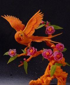 Bruce Phoenix vegetable fruit carving art
