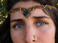 Tribal Gypsy Macrame Mexican Jed Tiara / by PrimitiveCraft on Etsy, $70.00