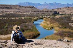 Rio Grande Village Nature Trail...CHISOS MOUNTAINS...Big Bend