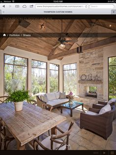 Browse pictures of sunroom designs and style. Discover ideas for your four periods space enhancement, including ideas for sunroom decorating as well as layouts. Outdoor Spaces, Outdoor Living, Indoor Outdoor, Indoor Garden, Outdoor Tables, Sunroom Decorating, Decorating Ideas, Decor Ideas, Screen Porch Decorating
