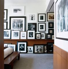 Large gallery wall arrangement