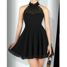 To find out about the Black Halter Sleeveless Pleated Dress at SHEIN, part of our latest Dresses ready to shop online today! Dress P, Dress Me Up, Chiffon Dress, Black Party Dresses, Short Dresses, Halter Dresses, Pretty Dresses, Beautiful Dresses, Gorgeous Dress