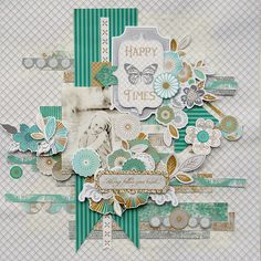 Elegance Layout by Trudi Harrison Scrapbooking Layouts, Scrapbook Pages, Clear Stamps, Flourish, Mini Albums, Embellishments, Elegant, Holiday Decor, Projects