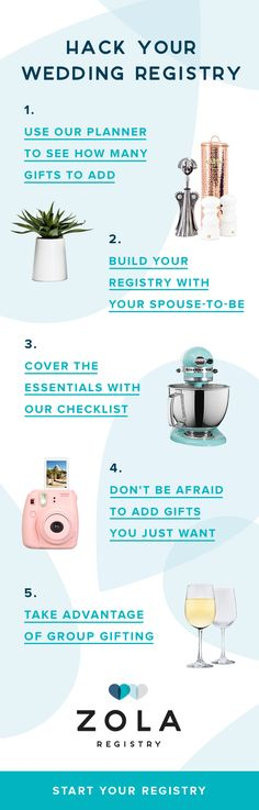 You're not getting married in the 1950s, so why register like you are? Meet Zola, the registry for 2017.