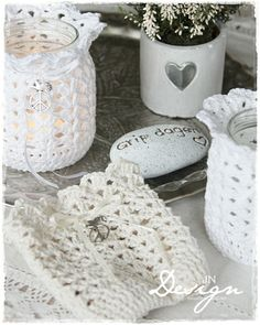 Jannes kreative verden: crochet mason jar cover