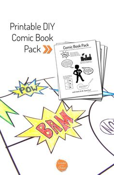 Such a fun and simple project - Printable DIY Comic book pack www.createinthechaos.com