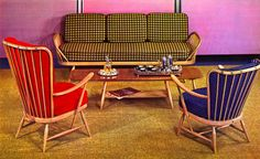 Ercol studio couch vintage advert