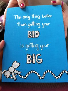 I made this for my big. <3 big little reveal                                                                                                                                                     More