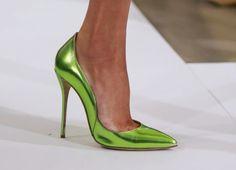 new concept 790d1 31bba Oscar De La Renta, Sandalias, Salones, Verde, Moda De Pasarela, Desfile