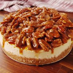 Still don't know what dessert to make for the holidays? Pecan Pie Cheesecake Still don't know what dessert to make for the holidays? Pecan Pie Cheesecake Still don't know what dessert to. Pecan Recipes, Sweet Recipes, Baking Recipes, Dessert Recipes, Pie Recipes, Appetizer Recipes, Best Pecan Pie Recipe, Pecan Desserts, Banana Pudding Recipes