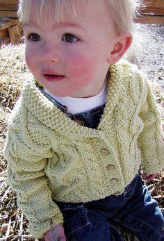 Free Knitting Pattern - Baby Knits: Trellis Baby Sweater