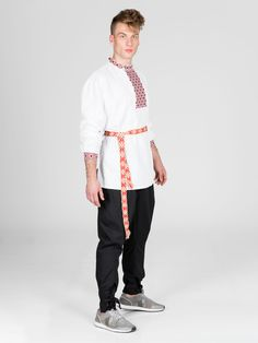 Traditional shirt made from linen. Learn more at xoroshedesign@gmail.com