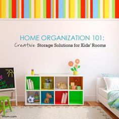 Try these clever DYI tips to home organization for your kids' rooms!
