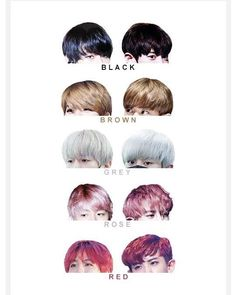 Baekyeol haircolours