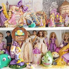 Rapunzel Tangled Disney Collection Luby&Lola Tangled Wedding, Disney Rapunzel, Shelfie, Animals And Pets, Princess Zelda, Fictional Characters, Collection, Cartoons, Instagram