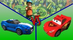 LIGHTNING MCQUEEN vs FORD MUSTANG GT vs BEN TOYCOLLECTOR