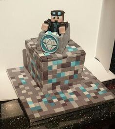 This cake is awesome I need it for my Birthday! ( I love Dan Tdm) Minecraft Party, Minecraft Birthday Cake, Minecraft Cake, 10th Birthday, Birthday Parties, Cake Birthday, Birthday Wishes, Birthday Ideas, Dan Tdm Cake