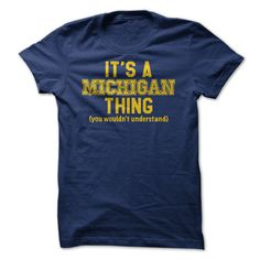 Its a Michigan Thing, (yo... #Personalized #Tshirt #nameTshirt