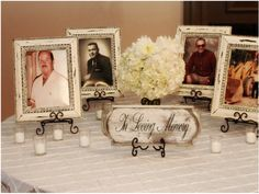 Set up a photo table at your reception to remember those who can't be there in person.