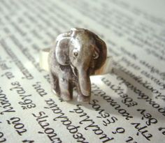 Silver elephant ring by stavroula on Etsy