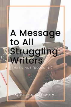 It's okay to struggle. Likewise, it's okay that not every day is a productive day. Writing doesn't have to be a game of who's most prolific or who can write the most. There's too much pressure for writers to mimic the bestsellers in both pace and style. I'm over it, and I'm over it for you, too. Read more now... Fiction Writing, Writing Advice, Writing A Book, Writer Tips, Writing Process, Confidence Building, Self Publishing, Writing Inspiration, Messages