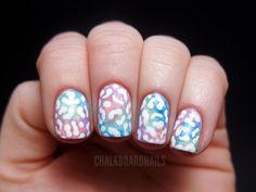 Chalkboard Nails: Pastel leopard print #nailart